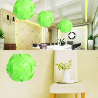 Wholesale 30pcs IQ Puzzle DIY Creative Jigsaw Party Light Lamp Shade Ceiling Lampshade Design Decoration Green