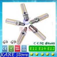 Wholesale LED light E11 E12 E14 E17 G4 G9 BA15D light corn Bulb AC V V W W w SMD3014 LED corn light degrees lamp spotlight bulbs