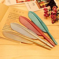 Wholesale 20pcs High Quality Feather Shape Ballpoint Pen Plastic Pen Writing Pens Cute Prize Gifts School Office Supplies Papelaria
