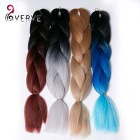 Cheap Ombre Kanekalon Braiding Hair 5pcs Synthetic Braiding Hair 3 Tone Xpression Braiding Hair High Temperature