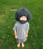 baby dan - Hot New Foreign trade hand knit cap wig cap beard cups Micro Stretch Baby Cashmere Heart Dan