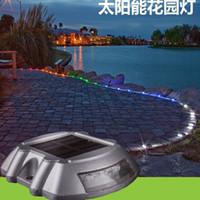 aluminum stud - Solar Road Stud Light Solar Light Aluminum Casting Spike LED Traffic Lights Signal Road Stud Lights Pathway stree light
