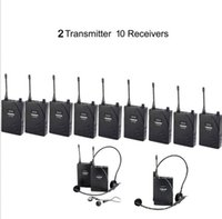 Wholesale UHF Wireless Tour Guide Translation System Transmitter Receivers wireless tour guide system Teach Train Visit Tourism by aibierte