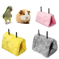 Wholesale Bird Parrot Hamster Small Pets Hammock Plush Hanging Bed Cave Cage with Buckle