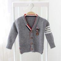 Wholesale 2016 winter children s clothing original single new boys TB Ribbon four cardigan cardigan star with the Korean version cardigan sweater car