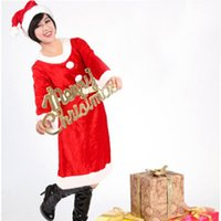angels products - Adult Set Of in One Suit Costume Christmas Dress For Girl Santa Claus Suit Cosplay clothes Pleuche Christmas Clothing Product code