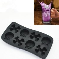 bar ice box - 3D Bone Skull Silicone Ice Mold Ice Cube Skeleton Ice Tray Kitchen Bar Tools Pudding Chocolate Jelly Ice Cream DIY Ice Box Mold LJJP13