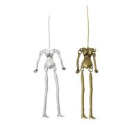 antique doll body - Human Skeleton Body Shaped Pendants Fit DIY Dolls Antique Silver Bronze Vintage Necklaces Pendants For Jewelry Making