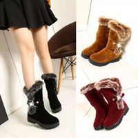 belt fastener - Hot Fashion Women s Round Toe Buckle Belt Fastener Snow Boots Warm Fur Non Slip Shoes Size