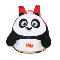 backpack accessories for kids - New design Pretty panda Plush Cartoon Toy Backpack Girls boys Character School Bag Gift For Kids