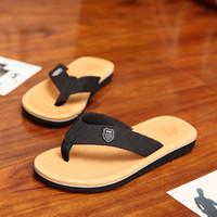 best flip flop sandals - Summer New Men Leisure Slipper Flip Flops EU Size Best Price Cheap Man Beach Shoes Casual Sandals Brown Grey Yellow
