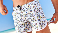 Wholesale 2016 Fashion Men Beach Shorts Brand Board Homme Quick Drying Bermudas Casual Clothing Fitness Masculinas Marca Surf Board Swimwears