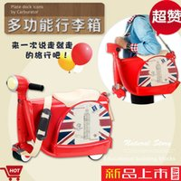 Wholesale 2016 new style hot sale baby suitcase walkers can sit children s cartoon toys Baby Walkers