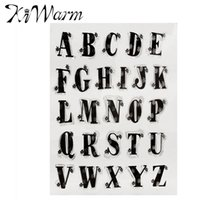 account card - Letter Alphabet Pattern Silicone Transparent Clear Stamp DIY Scrapbooking Card Making Hand Account DIY Decor Supplies Gift