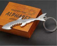 beer records - Fashion in Keychain Shark Shaped Bottle Opener Keychain shaped zinc alloy Silver Color Key Ring Beer Bottle Opener Unique Creative Gift