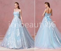 beautiful strapless wedding dresses - 2017 fusion of romantic and dreamy light blue lace tone the woman s dress from L atelier Mariage is stop you beautiful Wedding dress