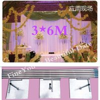 Wholesale Express X6M Stainless Steel Pipe Wedding Backdrop Stand With Expandable Rods Backdrop Frames Wedding Event Party Decoration