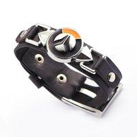 bangle sets online - The new popular online game watch pioneer explosive Style Men s personality Bracelet Leather Bracelet Gift Bracelet
