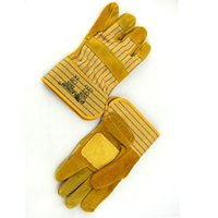 assembly gloves - Thickened half cow leather gloves mine industry special assembly labor insurance gloves wear resistant and slip resistant safety gloves