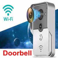 Wholesale 2016 wireless WiFi Video Doorbell Visual Door Phone Doorbell P2P PIR Detection Home Security for iPad Smart Phone Tablet in stock