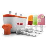 Wholesale Zoku Quick Pop Maker ZOKU Slush Shake Maker Home made Ice Cream Tools Ice Creammaker Creative Cup