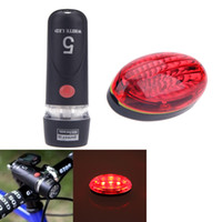 Wholesale Ultra Bright Bike Bicycle Light Set LED Cycling Front Head Light Lamp Waterproof LED Rear Safety Flashlight Taillight