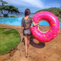 adult ball pool - 2016 new cm Gigantic Donut Swimming Float Inflatable Swimming Ring Adult pool floats