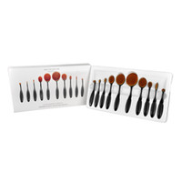 beauty creams - 10pcs In the Box Beauty Toothbrush Shaped Foundation Power Makeup Oval Cream Puff Brushes sets Oval Brushes