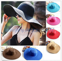 Wholesale Fashion Women s Foldable Wide Large Brim Ladies Summer Bucket Cap Beach Floral Sun Caps Floppy Straw Hat Summer Hats for Women