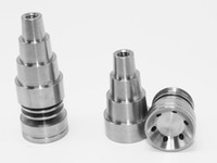 Wholesale Universal Infinity Domeless in Titanium Nail mm mm mm Adjustable Male or Female Oil Gr2 domeless titanium nails