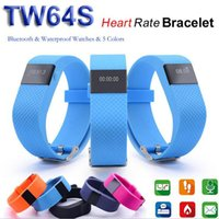 Wholesale TW64s IP67 Waterproof Smart Bracelet Heart Rate Monitor Wristband Sport Tracker Bluetooth for IOS Android With Retail Package