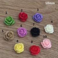 Wholesale Mixed Bloomy Flowers Rose Resin Flower Cabochons mm