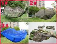 Wholesale 2016 hot holiday sale Colors Can Choose Parachute X cm g Double hammock with mosquito nets Outdoors Hammock