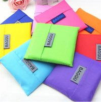 Wholesale 2016 Christmas gift Candy colorful Japan Baggu Reusable Eco Friendly Shopping Tote Bag pouch Environment Safe Go Green