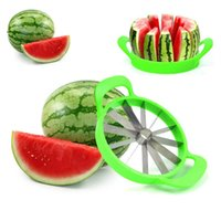 Wholesale 2016 New Arrive Watermelon Cutter Cantaloupe Melon Slicer Stainless Steel Kitchen Divider Tool Fruit Vegetable Tools