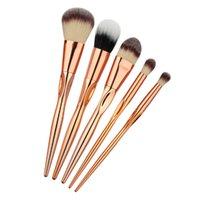 beautiful jin - 5 Branch Makeup Brush Set Brush Core Rose Jin Huazhuang Brush Foundation Make up Brush Rose Gold Beautiful Make Up Tool