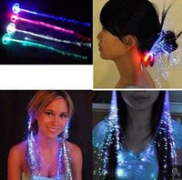 Wholesale Flash braid hair fiber braid hairpin LED lights wig bar party supplies Colorful braid automatic color there are other colors