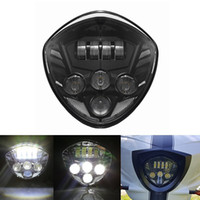 Wholesale Led Headlight Bulbs Black W Cree Headlamp Driving Lights DRL for Motorcycle Victory Cross Country Lighting