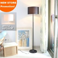 Wholesale New store promotion home family hotel decoration white black flax fibre fabric shade mordern floor lamp light