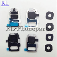 Wholesale 100pcs for Samsung Galaxy S7 G930F Back Rear Camera Lens Ring Cover Part frame Bezel Adhesive Stricker S7 Edge G935F
