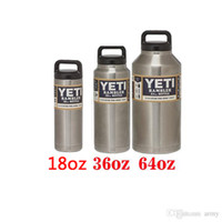 Wholesale NEWYeti oz oz Rambler Stainless Steel Cups Large Capacit Cooler YETI Rambler Tumbler Cup Vehicle Beer Mug Double Wall Bilayer Vacuum