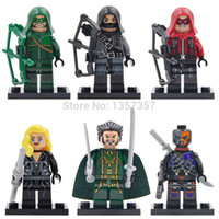 arrow building - Decool Super Heroes Minifigures Green Arrow Arsenal Building Blocks Sets Model Figure Toys