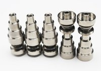 Wholesale Universal mm mm mm TITANIUM NAILS IN domeless titanium nails with male and female joint for glass bongs pipes