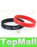 Wholesale LAI Students Favorate Sports Rubber Wristband John Wall Signature No Basketball Star Fans Souvenir Gifts Hologram Bracelet