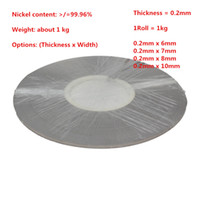 Wholesale Thickness mm Pure Nickel Plate Strap Strip Sheets for battery Spot welding machine Welder Equipment kg Roll