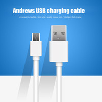 Wholesale High quality white micro usb charging data line cm injection head unids charging cable for android smartphone as lenovo samsung
