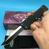 automatic bagging - Microtech A161 troodon Tanto Blade Double edge Big Eddition Smooth action pocket survival outdoor knife knives with nylon bag