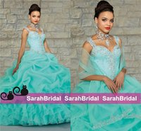 backless top pattern - Top Selling Hot Mint Peach Quinceanera Dresses Ball Prom Gowns With Wrap Debutante for Sweet Years amazing crystal occasion Wear