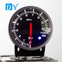 Wholesale High Quality INCH MM DY BF Universal Fuel Level Gauge with White and Red colors Light racing car Fuel Meter