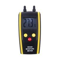 Wholesale Professional Digital Wood Moisture Meter Ambient Temperature Tester LCD Backlight Display